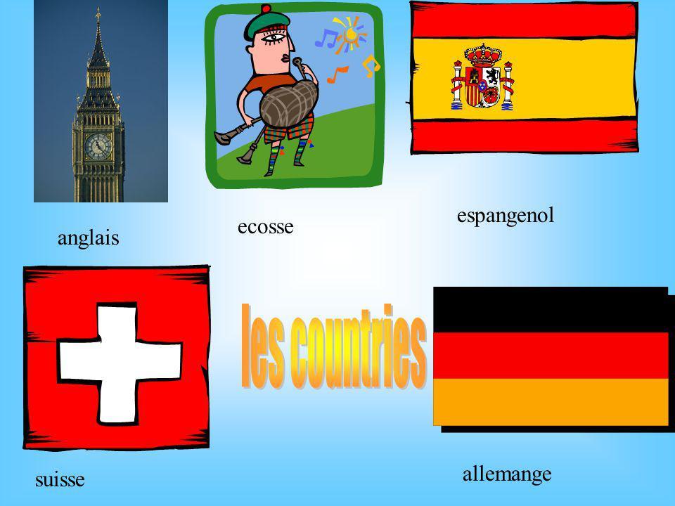 anglais ecosse espangenol suisse allemange