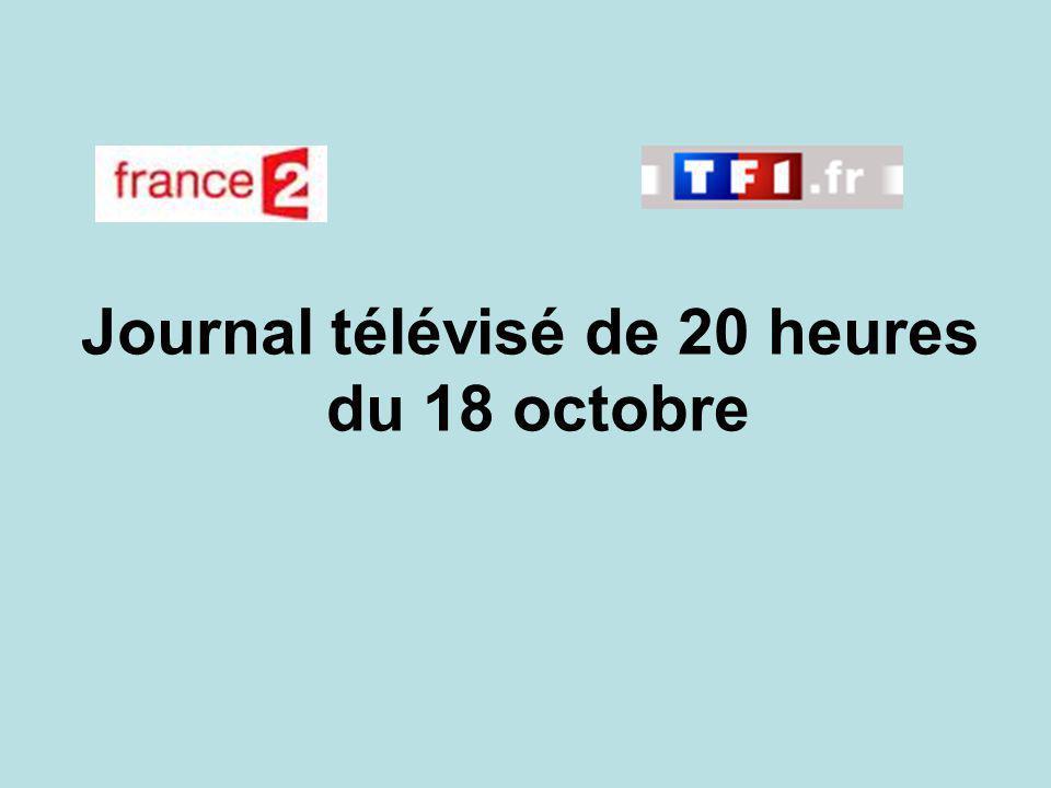 Journal télévisé de 20 heures du 18 octobre