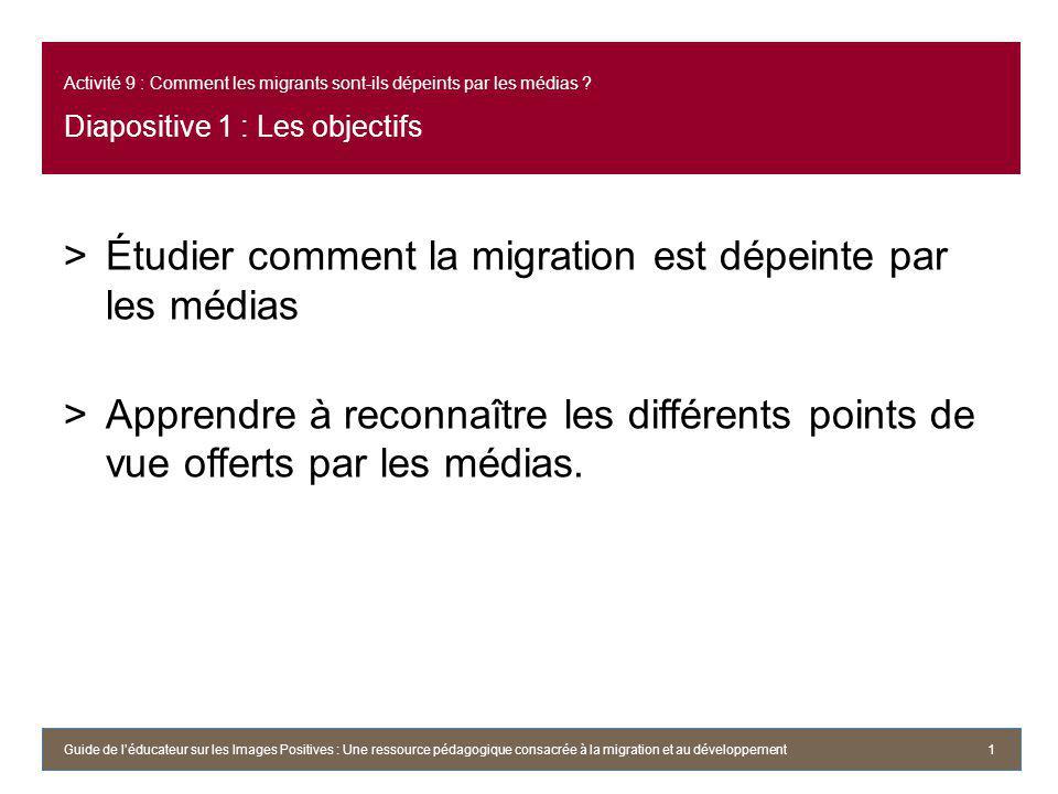 Activité 9 : Comment les migrants sont-ils dépeints par les médias .
