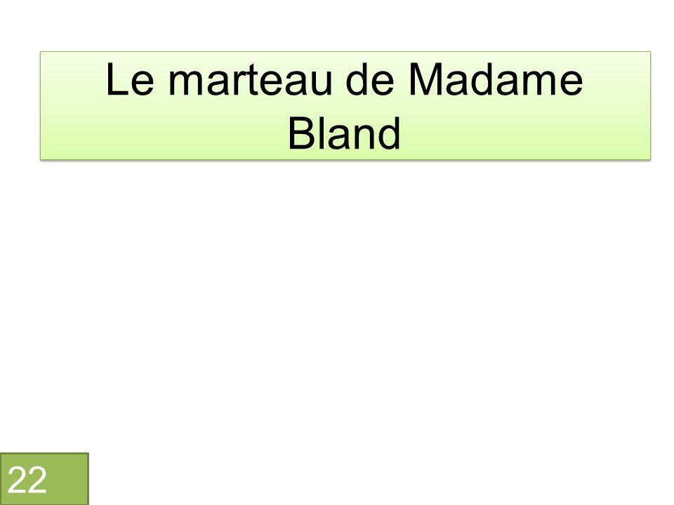 Le marteau de Madame Bland 22
