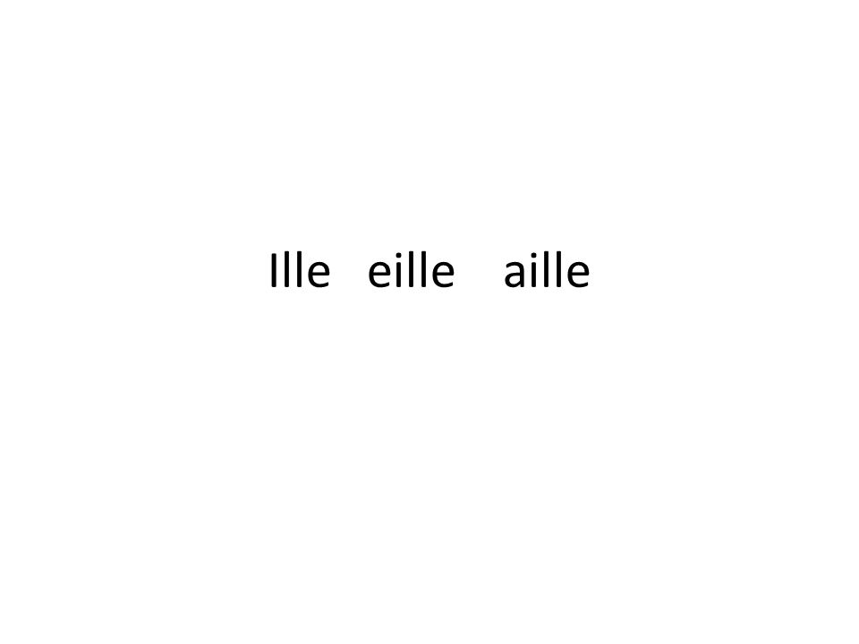 Madame Canaille aille [eye] ail