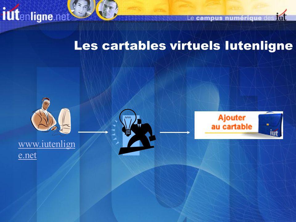 Les cartables virtuels Iutenligne www.iutenlign e.net