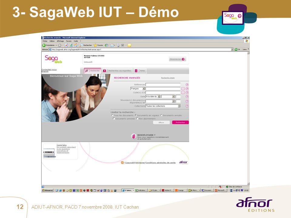 1 / Pour personnaliser les références : Affichage / En-tête et pied de page Personnaliser la zone Pied de page, Faire appliquer partout ADIUT-AFNOR, P