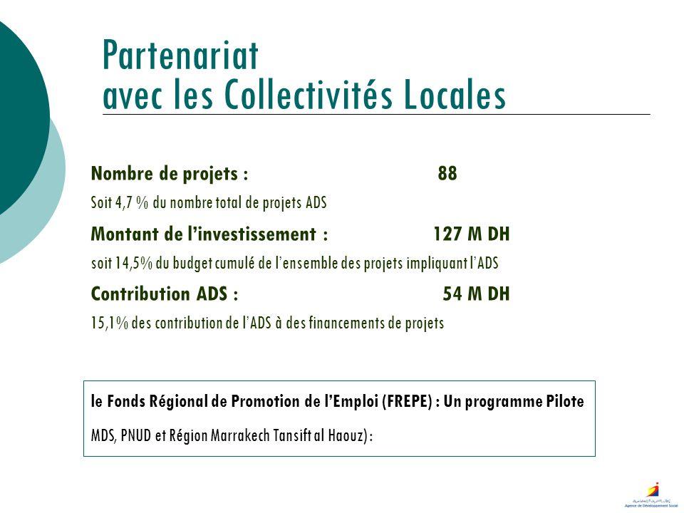 Partenariat avec les Collectivités Locales le Fonds Régional de Promotion de lEmploi (FREPE) : Un programme Pilote MDS, PNUD et Région Marrakech Tansi