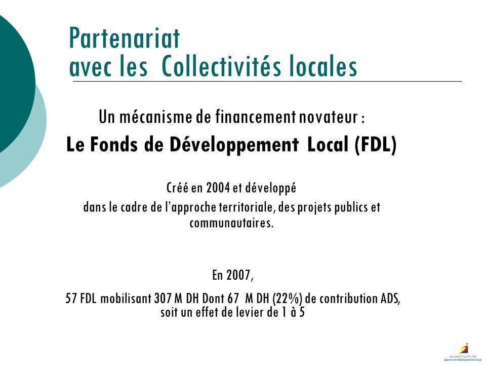 Un mécanisme de financement novateur : Le Fonds de Développement Local (FDL) Créé en 2004 et développé dans le cadre de lapproche territoriale, des pr