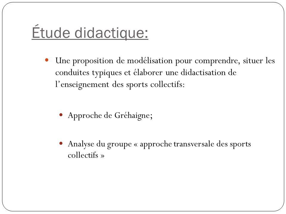 Étude didactique: Une proposition de modélisation pour comprendre, situer les conduites typiques et élaborer une didactisation de lenseignement des sp