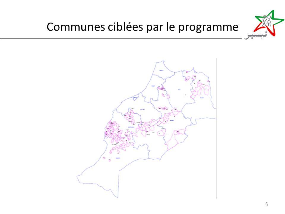 Communes ciblées par le programme 6