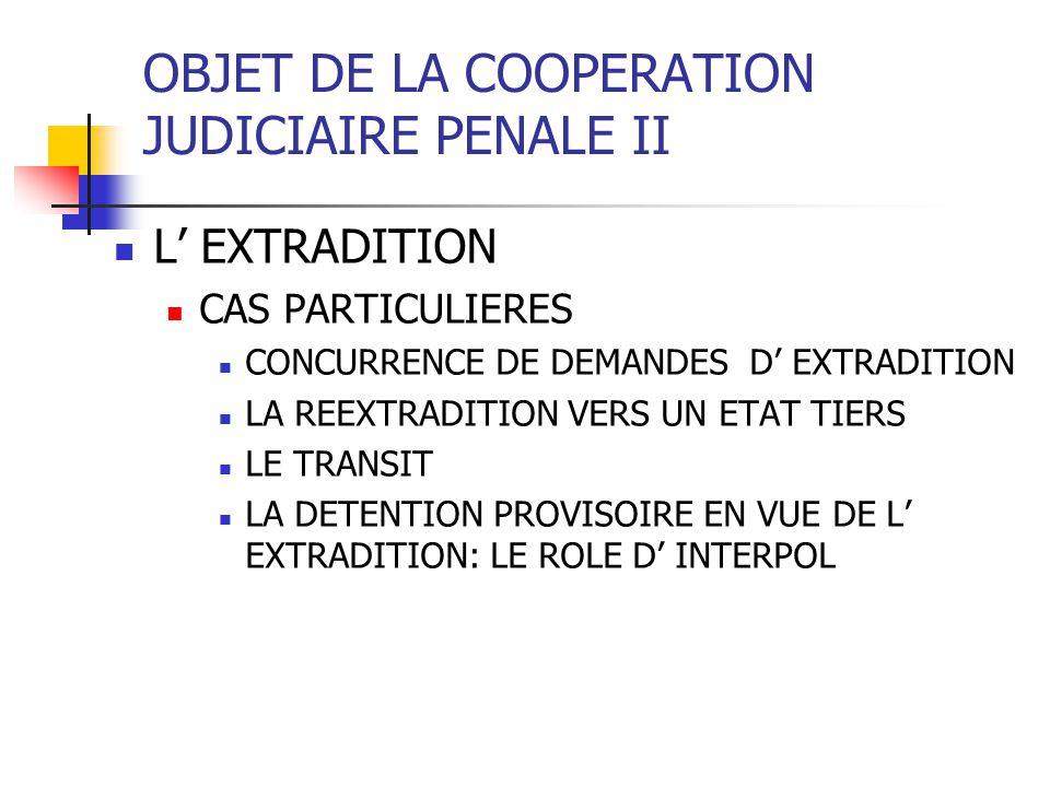 OBJET DE LA COOPERATION JUDICIAIRE PENALE II LA CONVENTION BILATERALE MAROC- ESPAGNE (30 mai 1997) PRINCIPES GENERAUX CAUSES DE REFUS NACIONALITE NON BIS IN IDEM, AMNISTIE, INDULT TERRITORIALITE PRESCRIPTION PROCEDURE FORMES DE TRANSMISSION CONTENU DES DEMANDES LANGUE FRAIS LA DETENTION PREVENTIVE