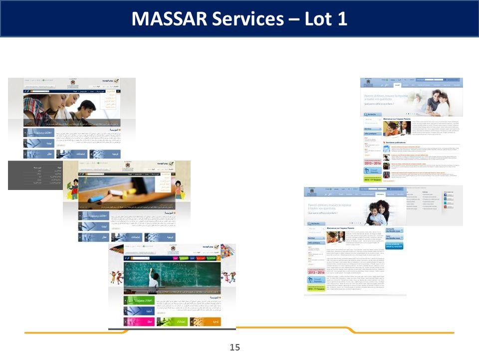 MASSAR Services – Lot 1 15