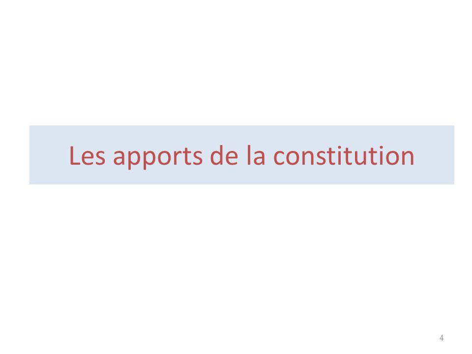 Les apports de la constitution 4