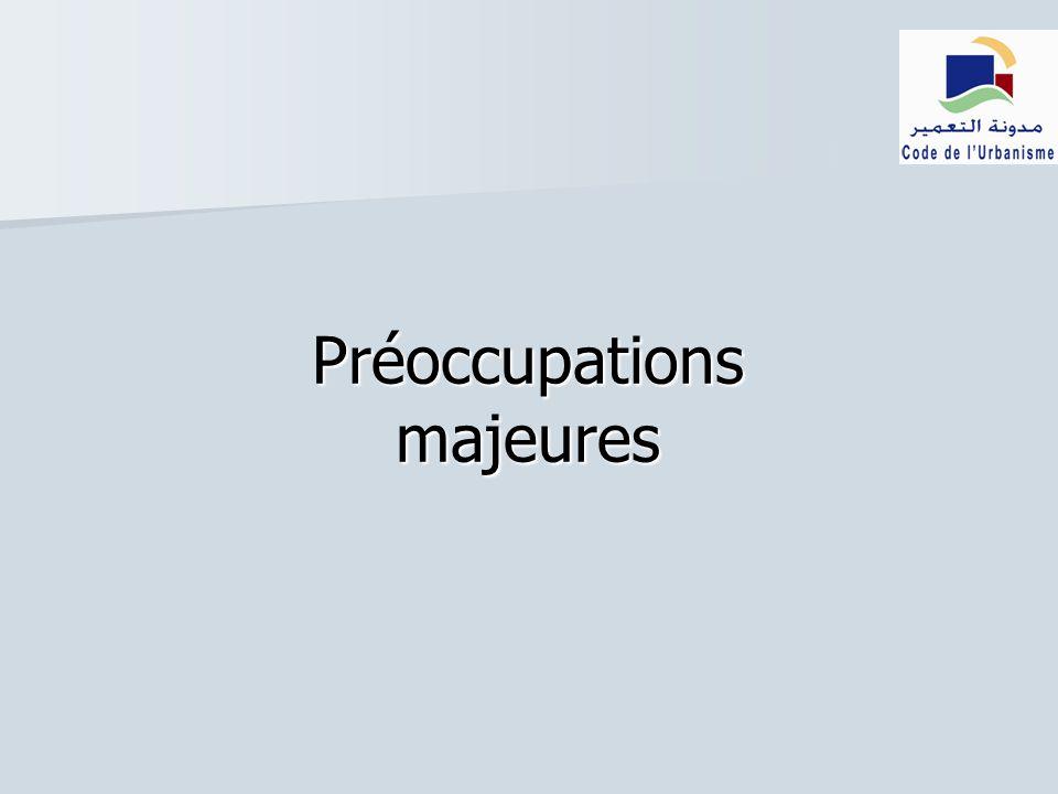 Préoccupations majeures