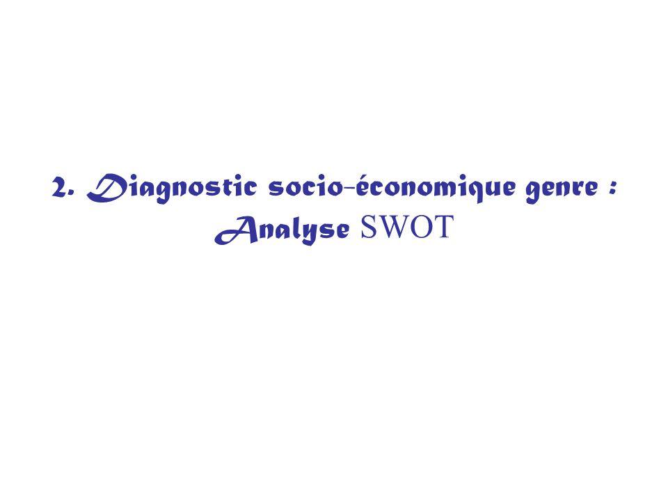 2. Diagnostic socio-économique genre : Analyse SWOT