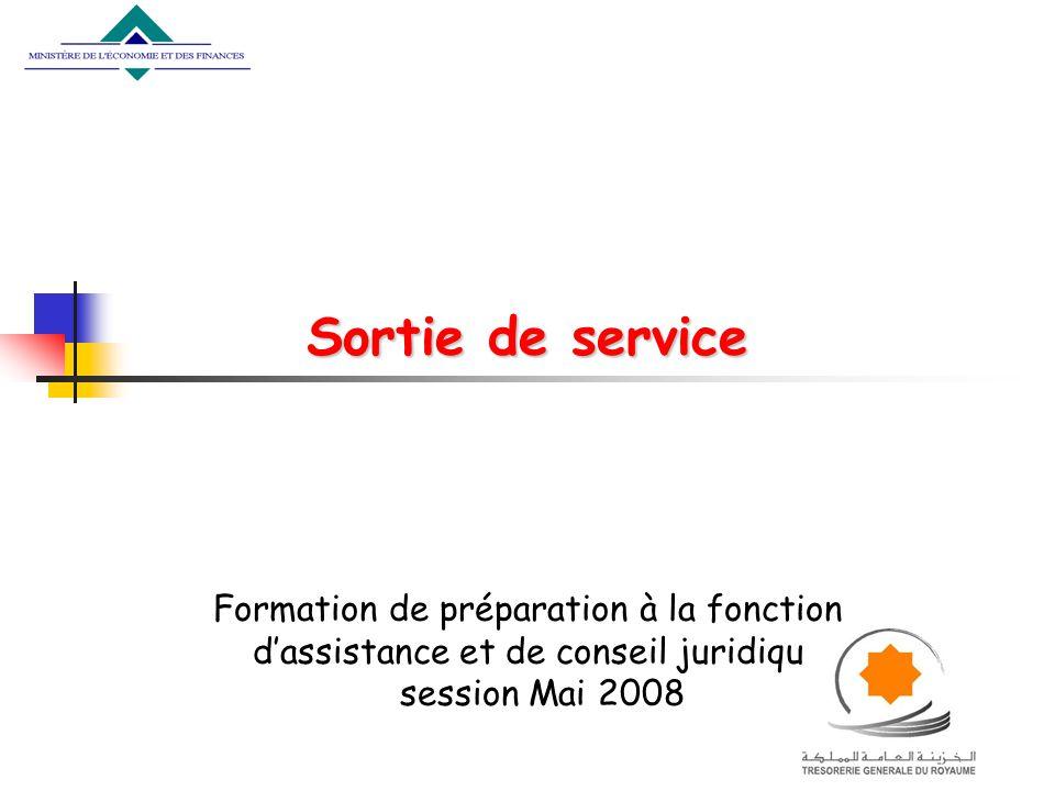 Sortie de service Formation de préparation à la fonction dassistance et de conseil juridique session Mai 2008