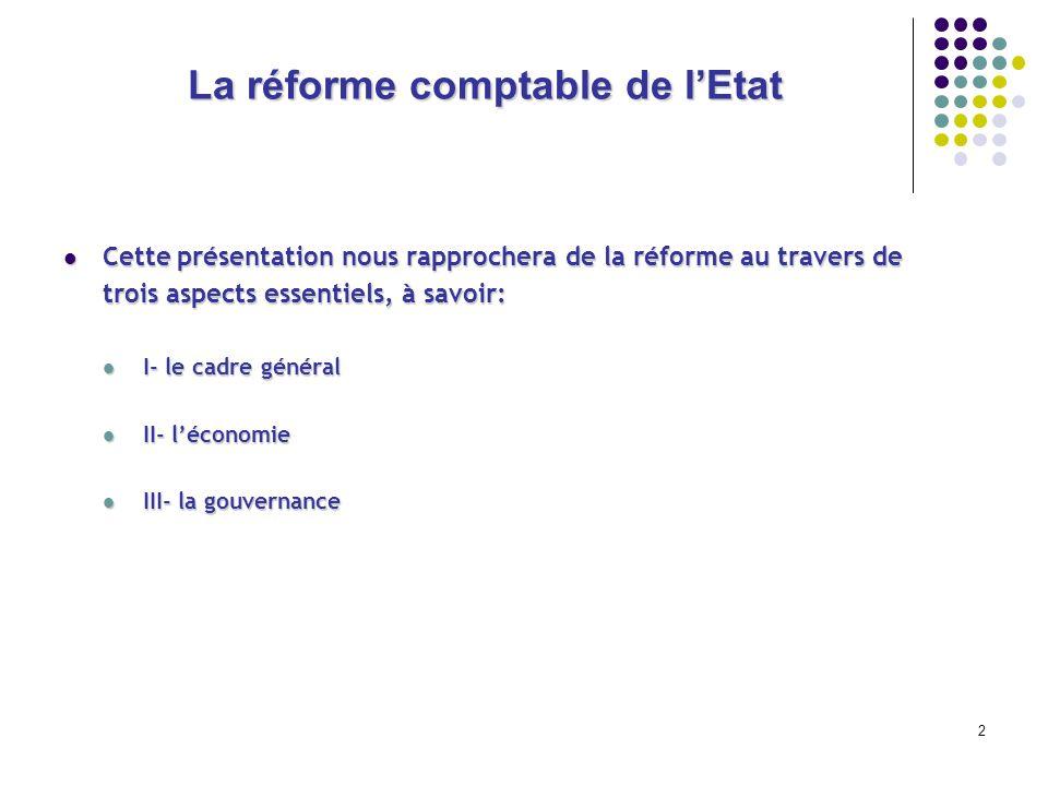 2 La réforme comptable de lEtat Cette présentation nous rapprochera de la réforme au travers de Cette présentation nous rapprochera de la réforme au t