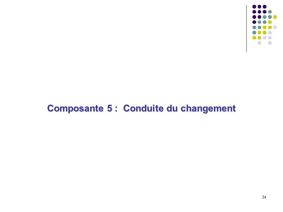 34 Composante 5 : Conduite du changement