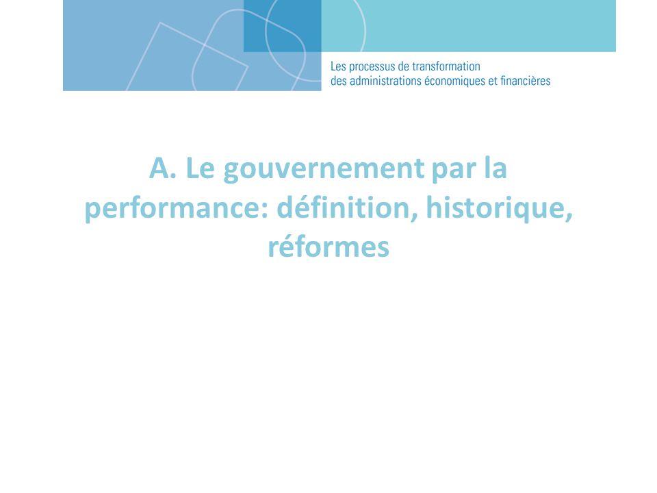 A. Le gouvernement par la performance: définition, historique, réformes