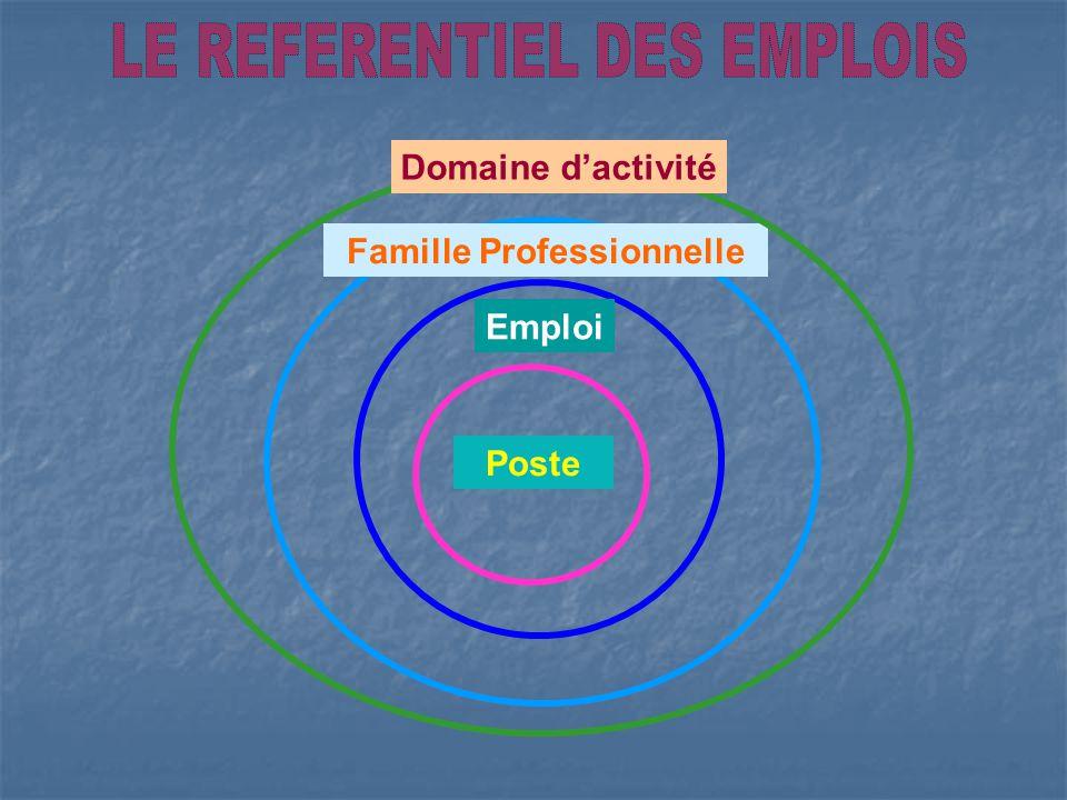 Emploi Famille Professionnelle Poste Domaine dactivité