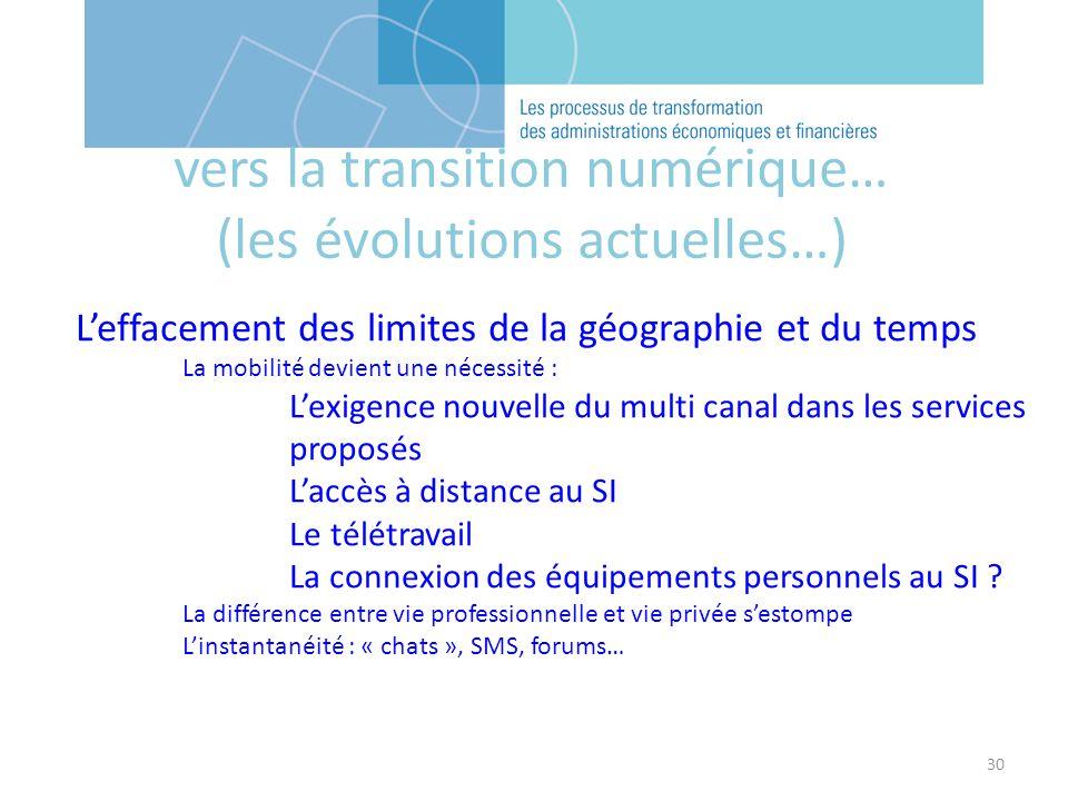 30 Leffacement des limites de la géographie et du temps La mobilité devient une nécessité : Lexigence nouvelle du multi canal dans les services propos