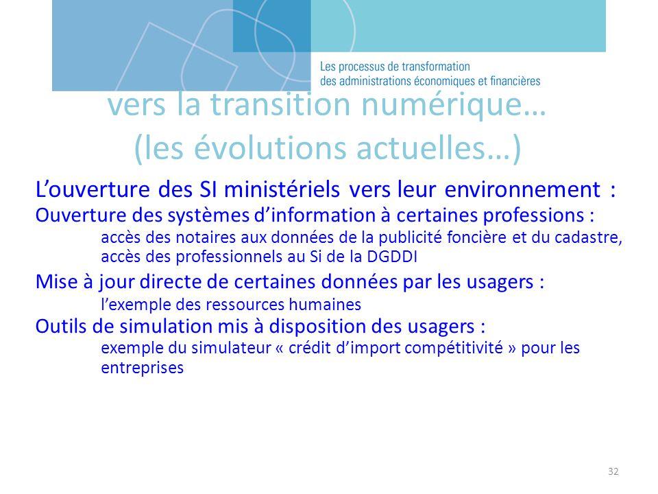 32 Louverture des SI ministériels vers leur environnement : Ouverture des systèmes dinformation à certaines professions : accès des notaires aux donné