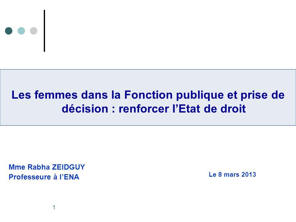 2 Sommaire I.Rappel : Liens entre Fonction publique et Etat de droit II.