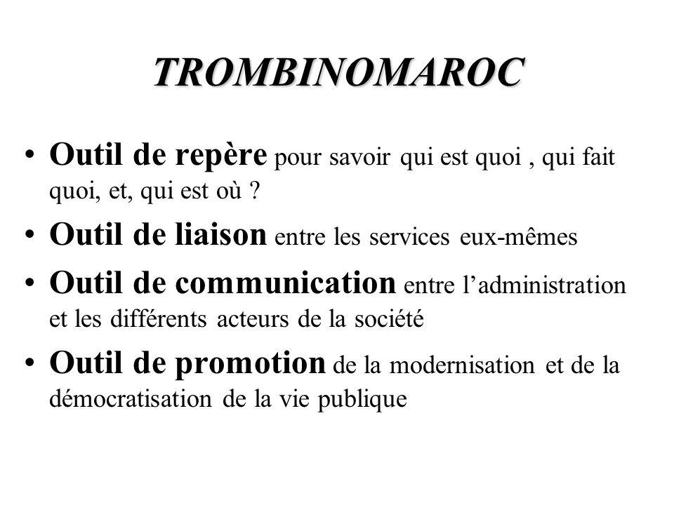 LE TROMBINOMAROC L annuaire de ladministration