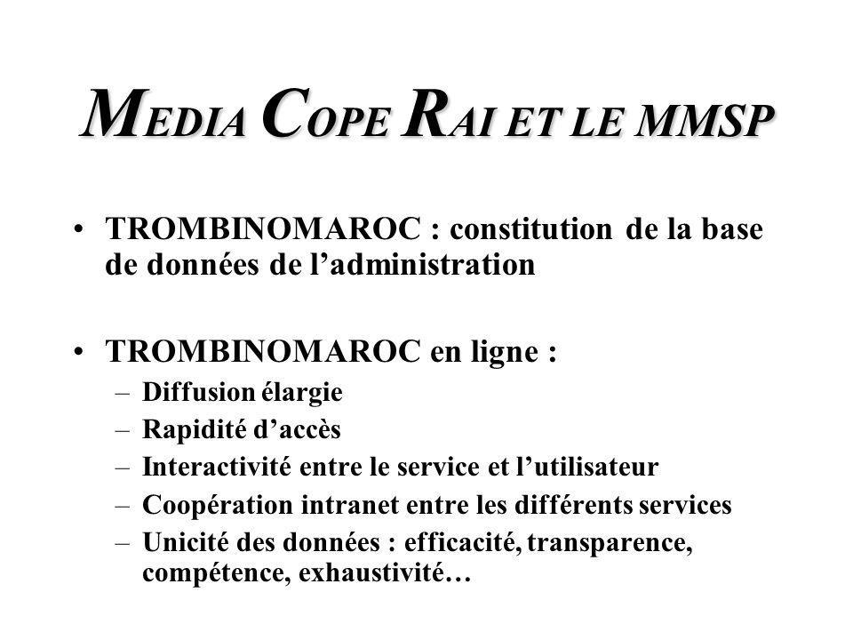 M EDIA C OPE R AI Quel sera alors la mission dinformation dévolue à M EDIA C OPE R AI communication et promotion de la restructuration des Services Publics.