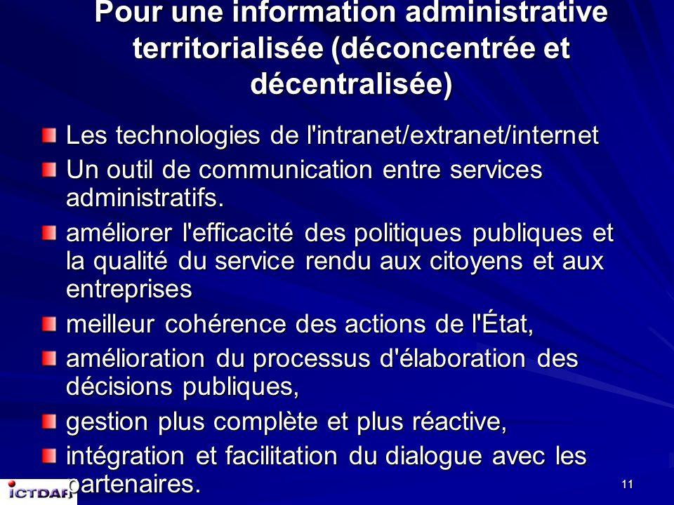 10 Les actions vers les PME : Facilitation des politiques locales, sous l'impulsion des agents économiques locaux (réalité de terrain) ;Facilitation d