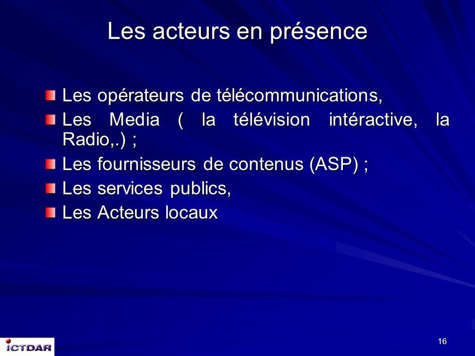 15 Il faut garder présent à l'esprit les réseaux sont clairement des instruments d'accès local à une information globale ; les actions en faveur des P