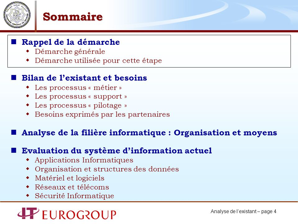 Analyse de lexistant – page 45 Analyse fonctionnelle : domaine métier Processus : Finances Locales.