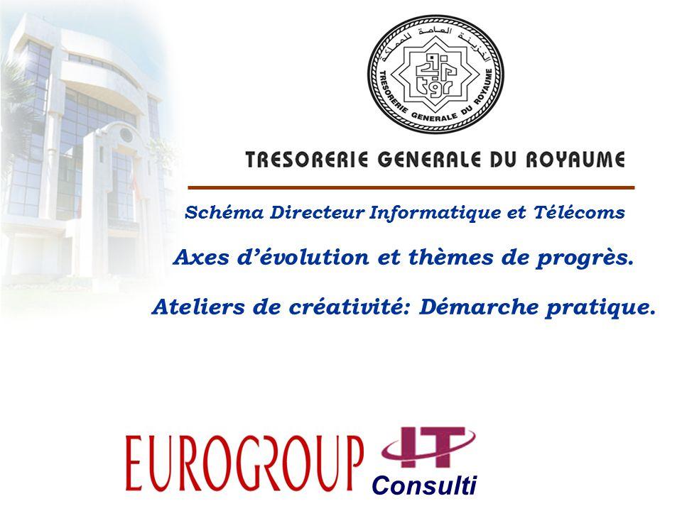 Consulti ng Schéma Directeur Informatique et Télécoms Axes dévolution et thèmes de progrès.