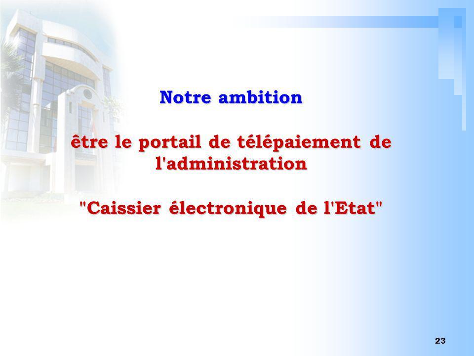 23 Notre ambition être le portail de télépaiement de l'administration