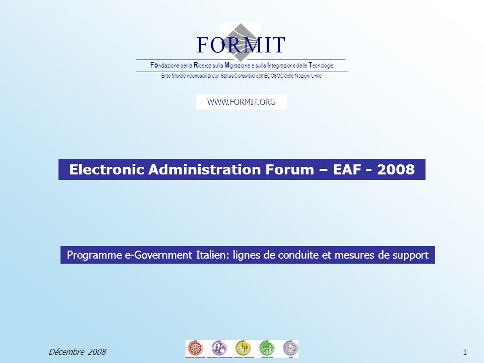 2 Profil de la Fondation FORMIT Décembre 2008