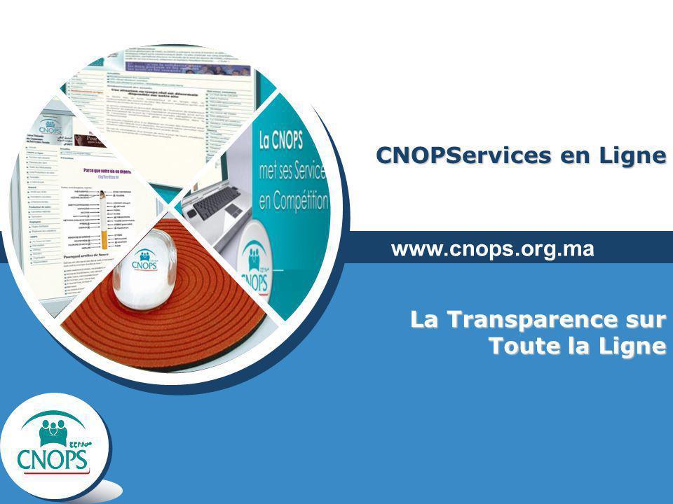 CNOPServices en Ligne La Transparence sur Toute la Ligne www.cnops.org.ma