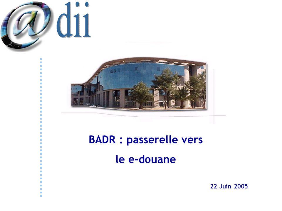 BADR : passerelle vers le e-douane 22 Juin 2005