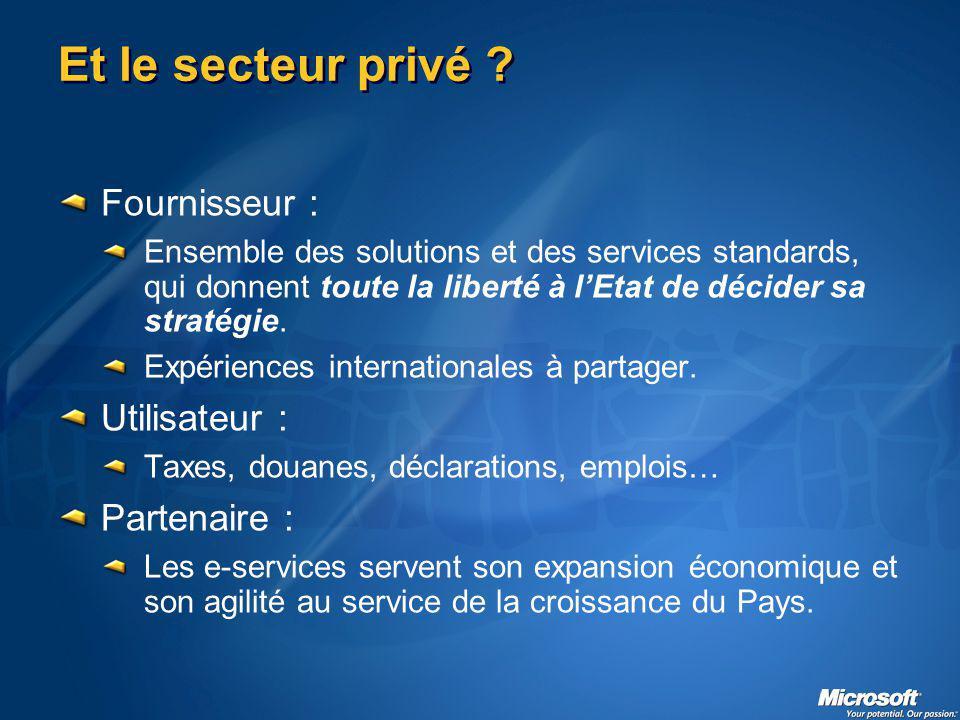 Et le secteur privé .