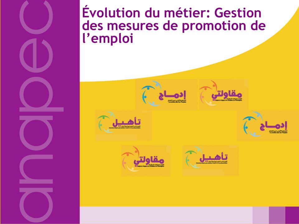 Évolution du métier: Gestion des mesures de promotion de lemploi