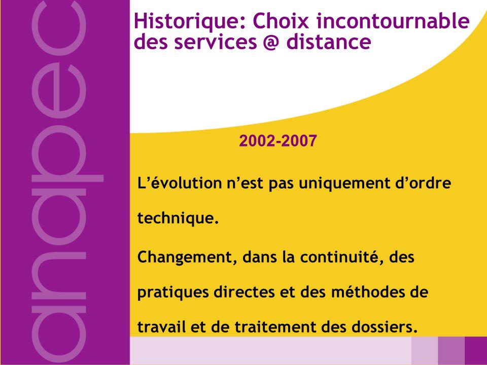 2002-2007 L é volution n est pas uniquement d ordre technique.