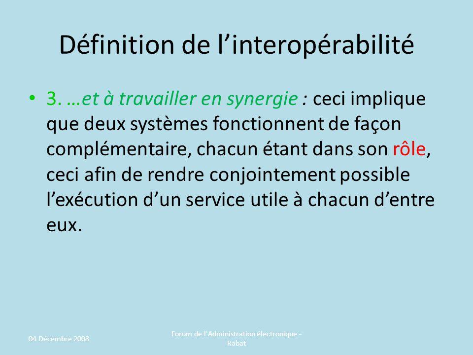 Définition de linteropérabilité 3.