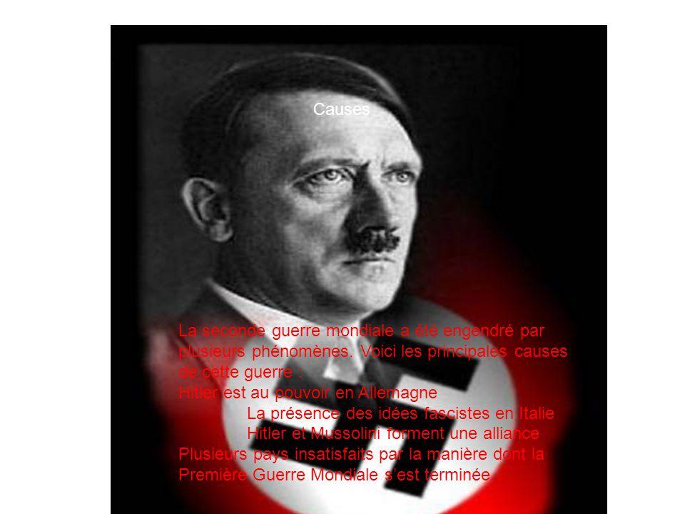 La seconde guerre mondiale a été engendré par plusieurs phénomènes.