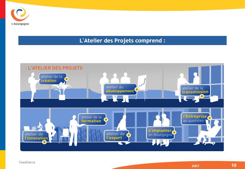 2007 Casablanca 10 L Atelier des Projets comprend :