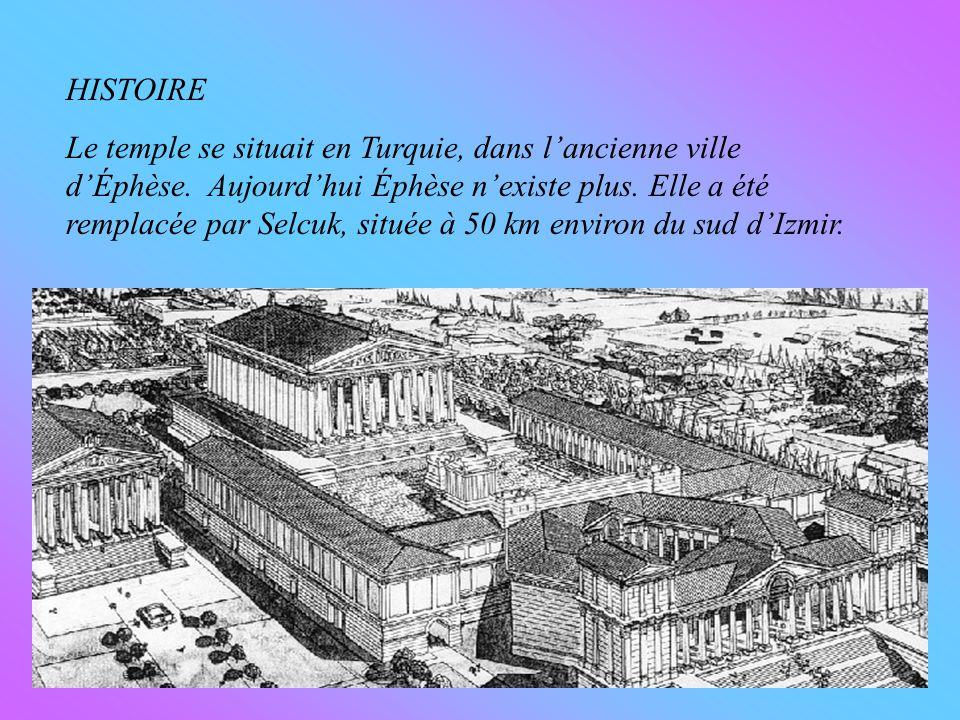 HISTOIRE Le temple se situait en Turquie, dans lancienne ville dÉphèse.