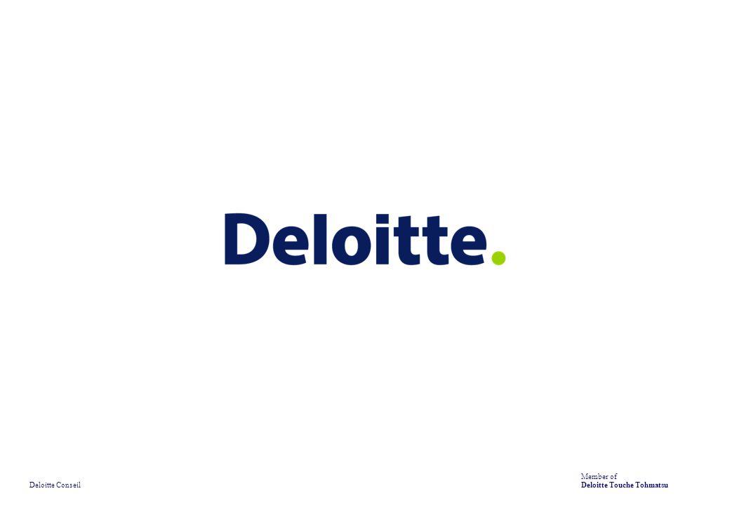 Deloitte Conseil Member of Deloitte Touche Tohmatsu