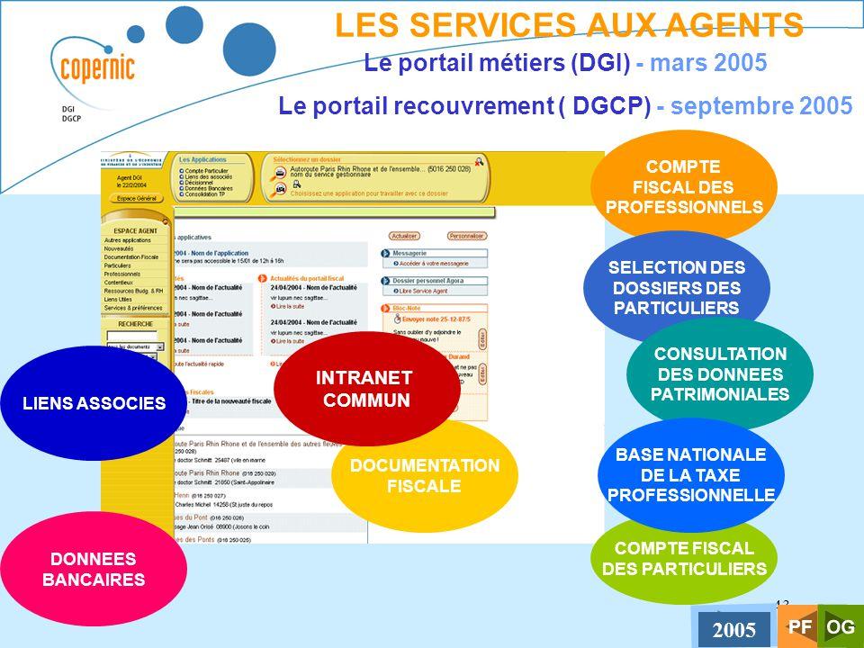 43 LES SERVICES AUX AGENTS Le portail métiers (DGI) - mars 2005 Le portail recouvrement ( DGCP) - septembre 2005 COMPTE FISCAL DES PROFESSIONNELS SELE