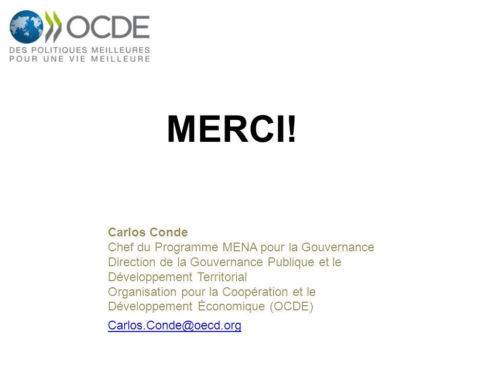 Carlos Conde Chef du Programme MENA pour la Gouvernance Direction de la Gouvernance Publique et le Développement Territorial Organisation pour la Coop