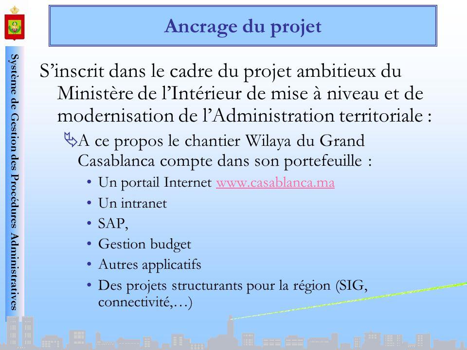 Système de Gestion des Procédures Administratives Ancrage du projet Sinscrit dans le cadre du projet ambitieux du Ministère de lIntérieur de mise à ni