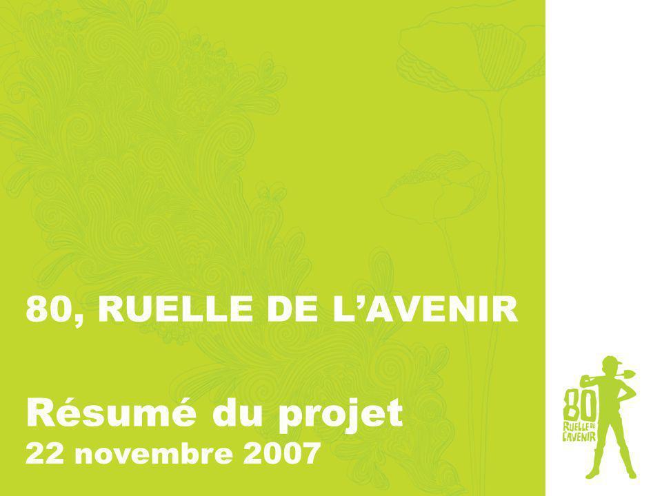 80, RUELLE DE LAVENIR Résumé du projet 22 novembre 2007