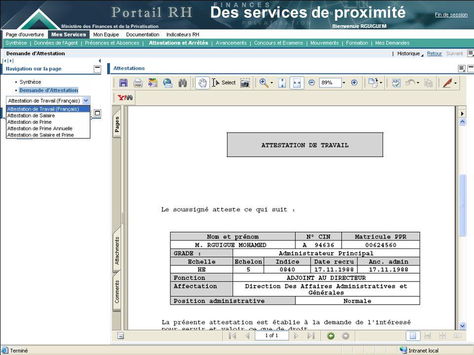20 13 juin 2007 Des services de proximité