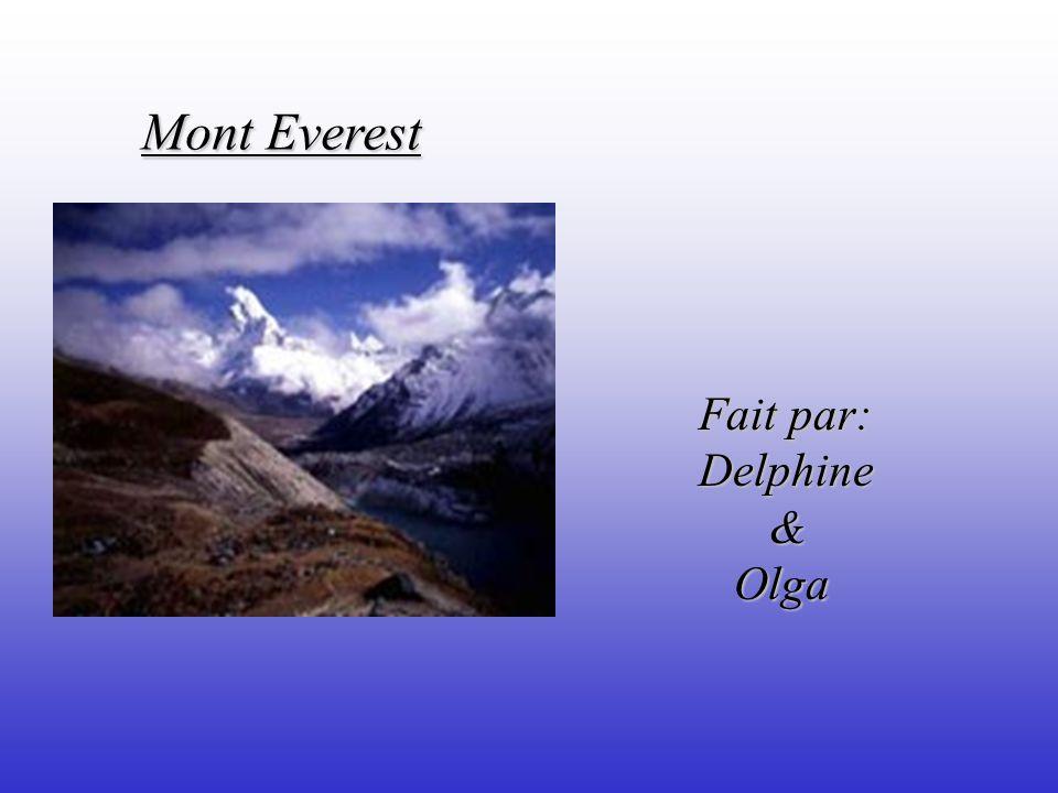 Le sujet de notre recherche est le Mont Everest et nous avons choisi ce sujet pour en savoir plus.