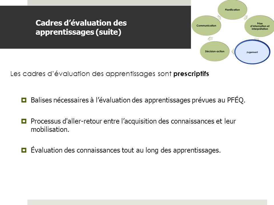 BDGAP-RI- Document de travail Cadres dévaluation des apprentissage Une introduction unique