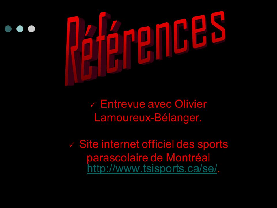 Entrevue avec Olivier Lamoureux-Bélanger.